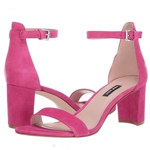 Nine West Pruce Dark Pink Heeled Sandal 10